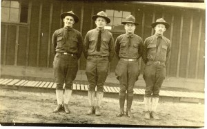 1918: Harry Goldberg (left) and friends from the Quartermaster Corps at Camp Sherman, Chillicothe, Ohio