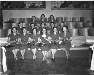 B'nai B'rith Women's Bowlers, 1953 Photo by Herb Topy