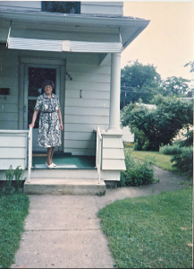 Friedel Frankel on her porch. Photos property of Miriam Dean-Otting.