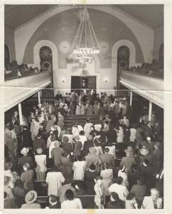 Interior of Agudas Achim Synagogue