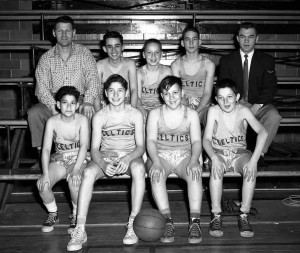 JCC Basketball, the Celtics, 1953 Photo by Herb Topy