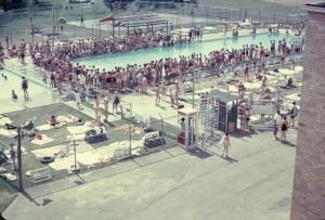 JCC Outdoor Pool, 1951 Courtesy of the Rosenfeld Family