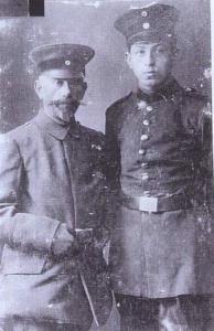 "Samuel (left) and Leo Erlanger in uniform. Source: ""Leo Erlanger,"" http://reocities.com/Eureka/Meeting/5068/fam00194.html (accessed January 7, 2011)."