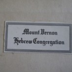 Sign that says Mount Vernon Hebrew Congregation